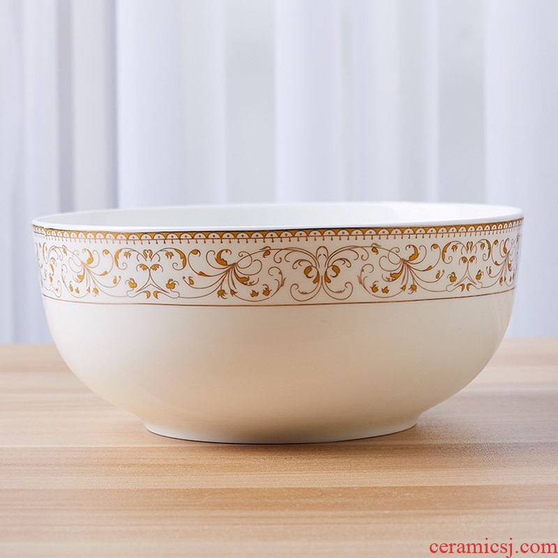 7 inch bowl 8 inch big bowl of jingdezhen ceramic terms rainbow such use salad bowl ipads China continental western creative home