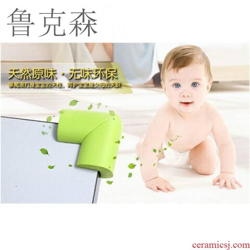 The Article LuKeSen thickening collision Angle infant children anti if against on baby furniture table Angle protection, JiaoTao tea table