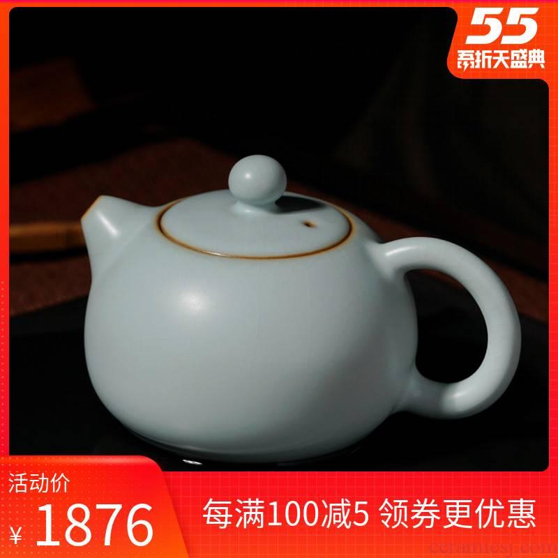 Your up xi shi pot of jingdezhen ceramic teapot single pot manually restoring ancient ways Your porcelain undressed ore celadon glaze open tea set
