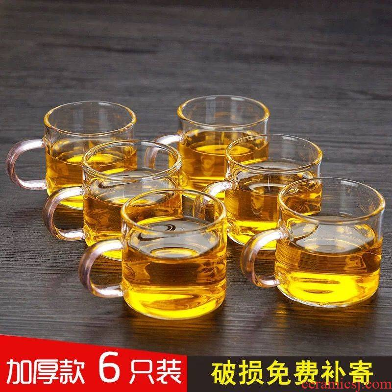 Small spend cup upset heat - resistant glass cup glass cup in hand little coffee cup tea cups suit is tie - in