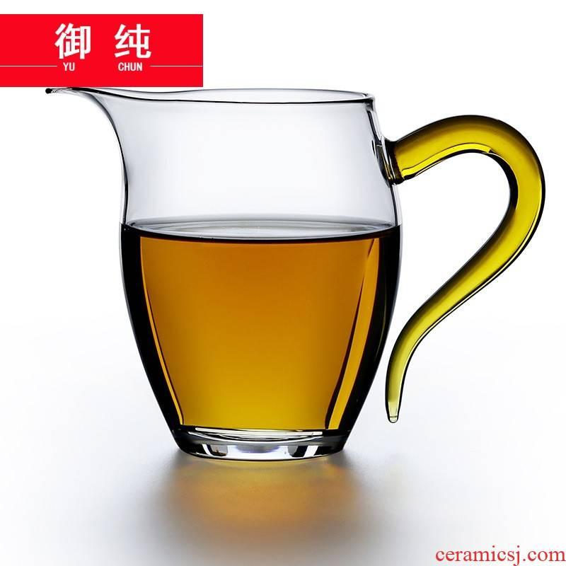 Royal pure glass transparent glass and heat - resistant glass tea sea fair keller cup tea gift sets