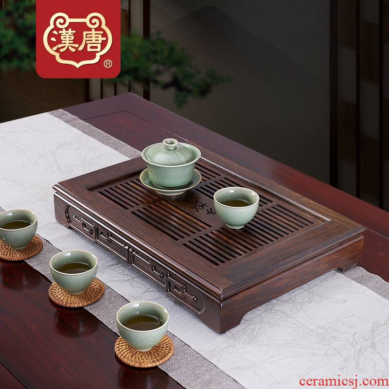 Han and tang dynasties tea tea table kung fu tea tray was solid wood home draw out small contracted saucer dish drop dry terms