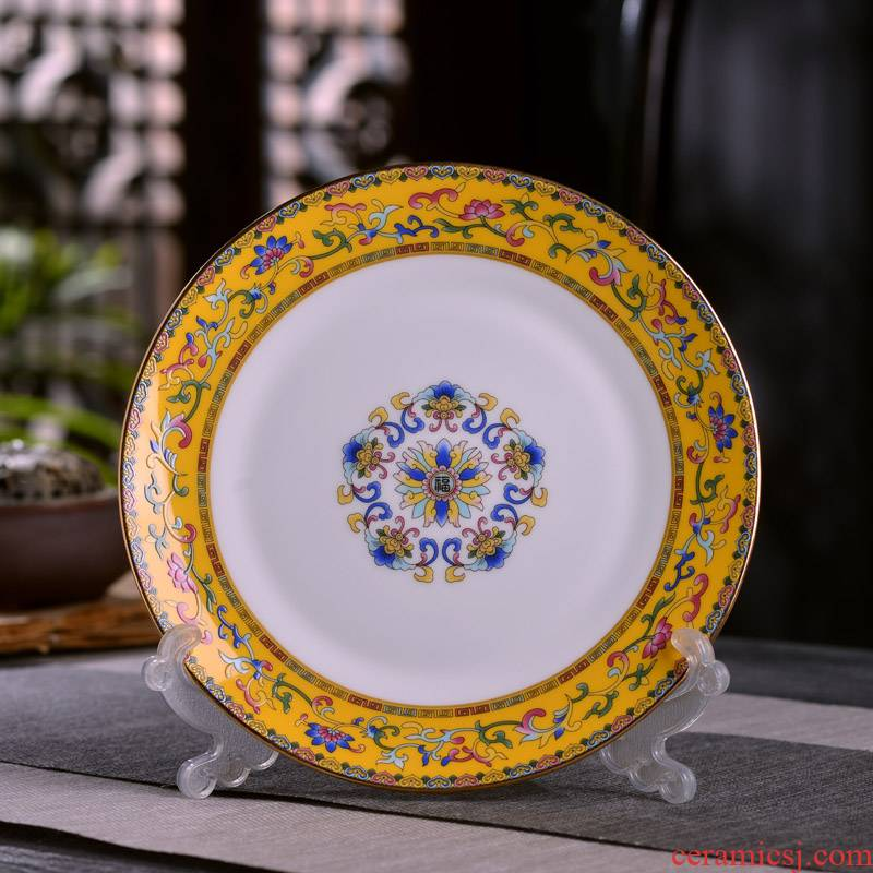 7 inches/8 inches jingdezhen up phnom penh deep dish Chinese style household ipads porcelain enamel deep dish plate of flat plate plate