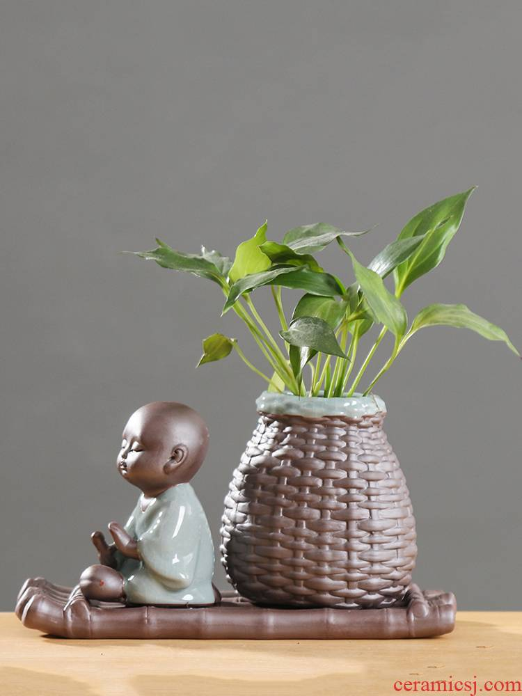 Other hydroponics aquatic plant container vessels flower vase flowerpot ceramic Chinese style household small place