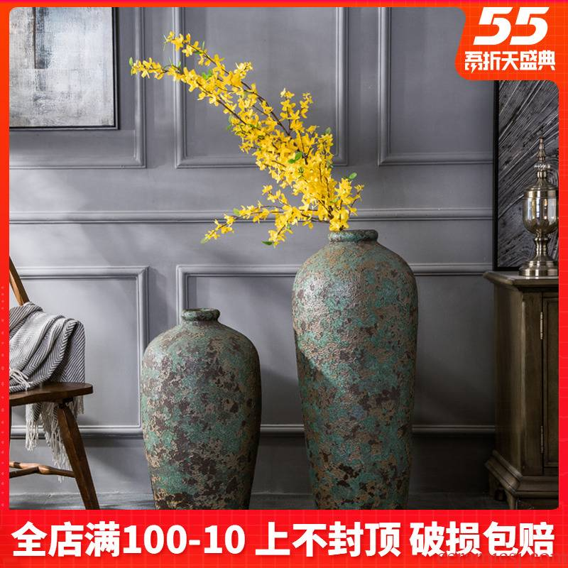 Jingdezhen ceramic vase landing restoring ancient ways do old flower arrangement sitting room adornment small name plum bottle furnishing articles pottery by hand