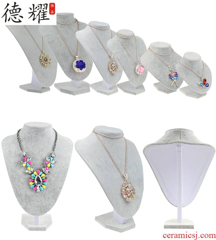 """Hanging frame bracket ano of jade jewelry model wek - jin and neck """"women jewelry jewelry neck hung a short neck almost to base"""
