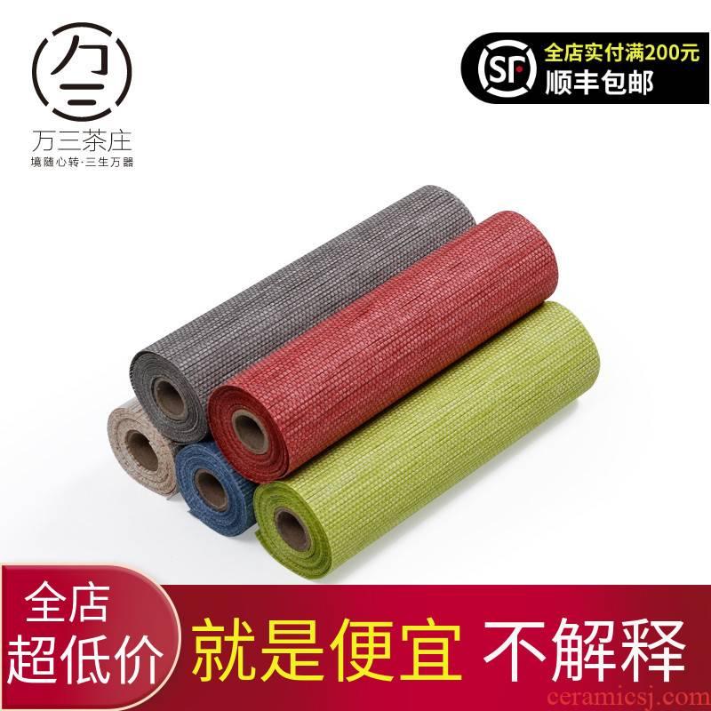 Three thousand Japanese tea village Taiwan paper fiber mat kung fu tea tea accessories table pad insulation pad tea shade