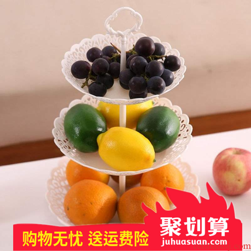 Multilayer fruit bowl dried fruit basket fruit tray plastic drop 'lads' Mags' including nuts seeds snack plate sitting room tea table candy box