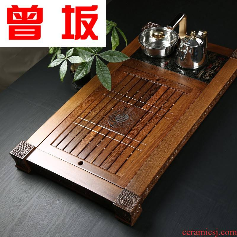 The Who -- chicken wings wood tea tray was solid wood induction cooker snap a whole set of kung fu tea tea tea saucer dish suits for