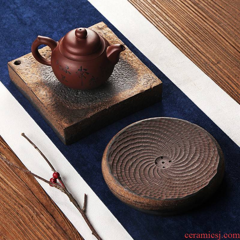 Park next 2019 coarse TaoGan restoring ancient ways of make tea pot bearing ceramic tea pot - foster pot pad Japanese tea tray storage type work