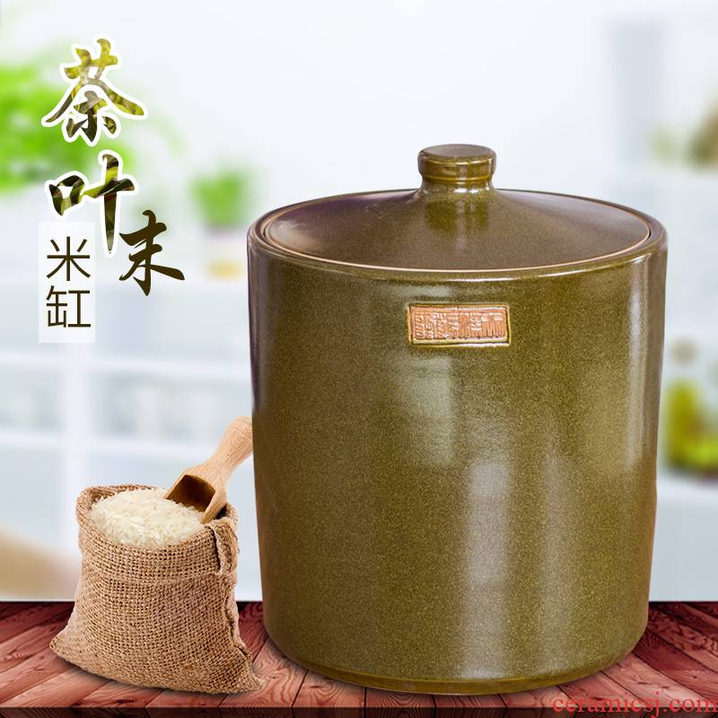 20 jins of tea oil pot at the end of the ceramic tea oil places a large oil barrel oil jar