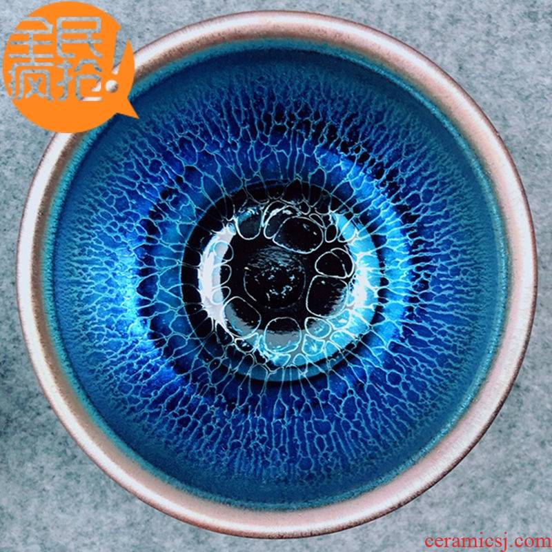 Hui shi tea set oil droplets kung fu masters cup iron tire ceramics cup sample tea cup single CPU TuHao bet on tea