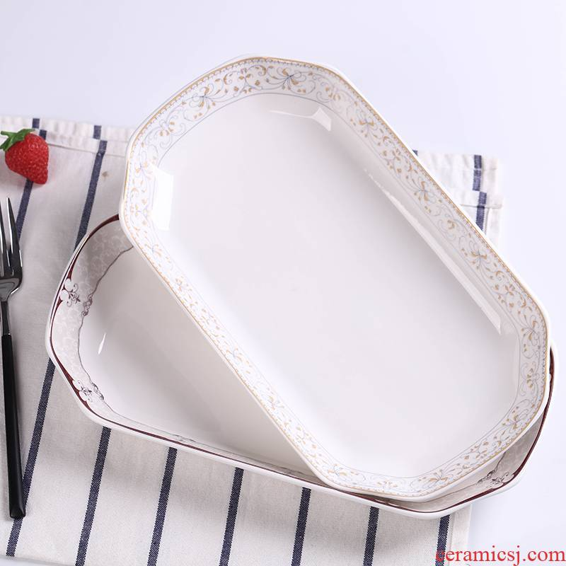 Creative contracted new fish dish dish dish of household ceramics large Japanese breakfast dish sushi sashimi steamed fish dish