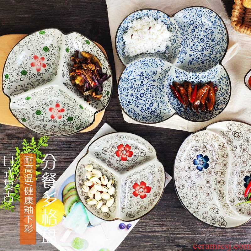 Special offer Japanese points tray ceramic household food dish, dried fruit fruit bowl creative fast food tray