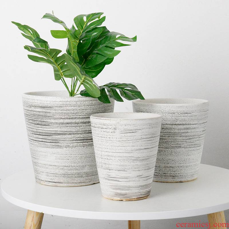 European contracted flowerpot ceramic floor balcony extra large sitting room desktop other tiger orchid basin wholesale package mail