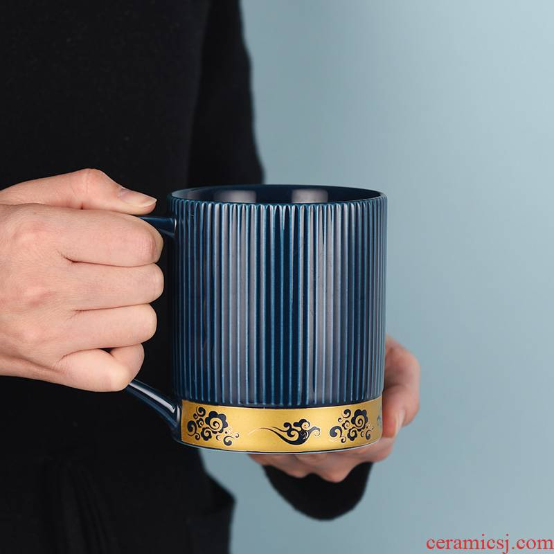 Tea cups separation ceramic Tea cup with cover glass filter glass office boss office cup keller
