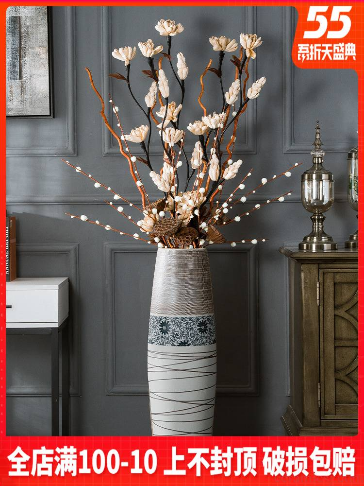 Big ceramic vase landing simulation flower suit dried flowers sitting room adornment furnishing articles I and contracted household act the role ofing is tasted flower arrangement