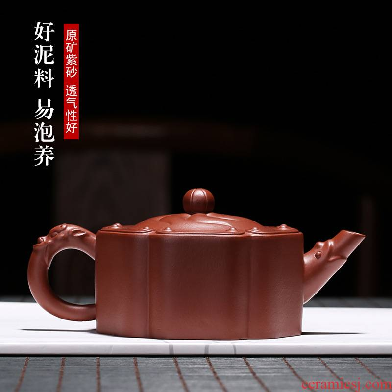 Yixing it pure manual famous tea authentic undressed ore old purple clay satisfied all hand tea home