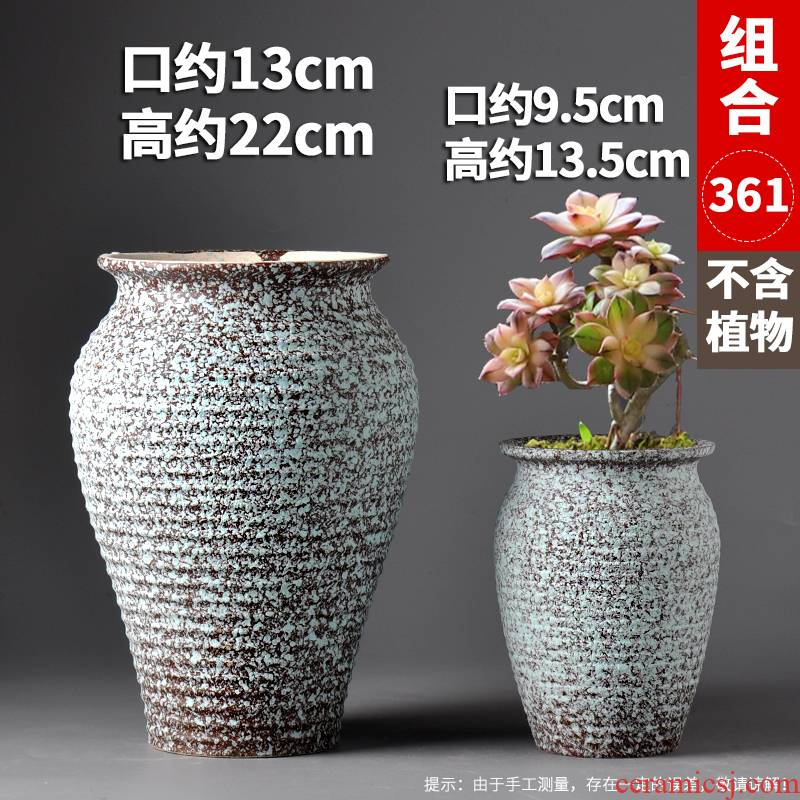 Fleshy flowerpot breathable meaty plant purple orchid rose high heavy ceramics, pottery specials mage flowerpot
