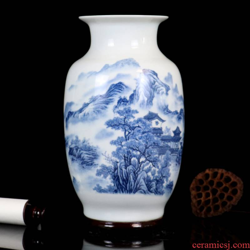 Jingdezhen manual pastel painting ceramic vase crafts creative study of sitting room place, home decoration gifts