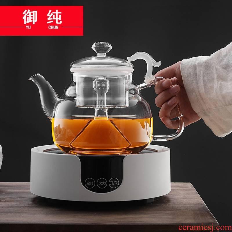 Royal pure high temperature resistant glass steam boiling tea kettle timing electrical TaoLu steaming tea teapot tea set electric kettles