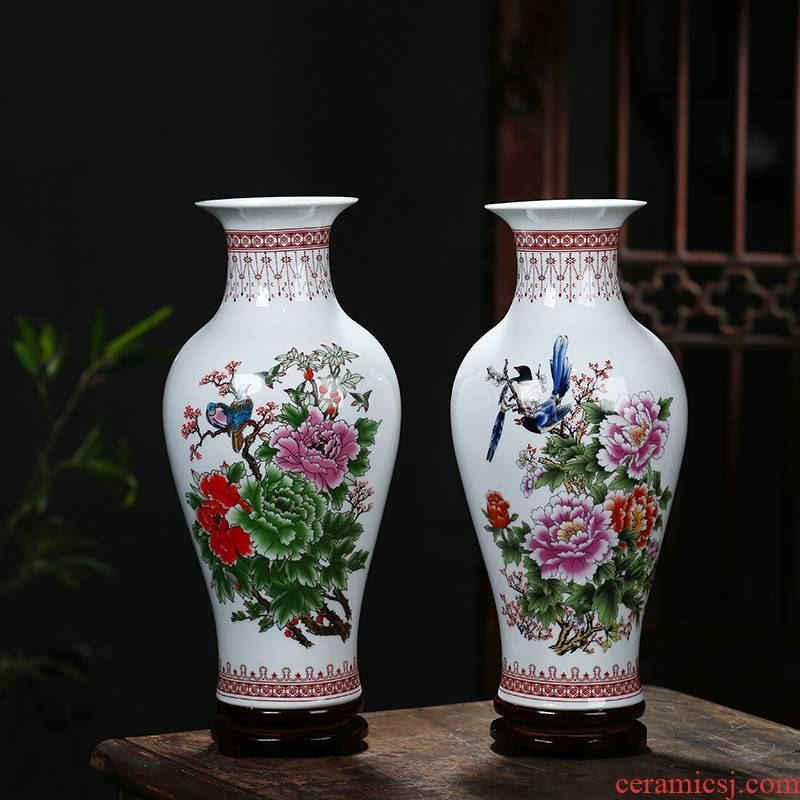 Jingdezhen ceramics modern furnishing articles furnishing articles home decoration flower arranging dried flower vase sitting room study ceramic bottle