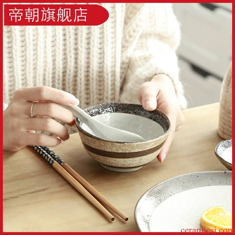 Emperor toward the use of household contracted the new eat Japanese creative ceramic tableware rainbow such as bowl noodles bowl of soup bowl mercifully jobs