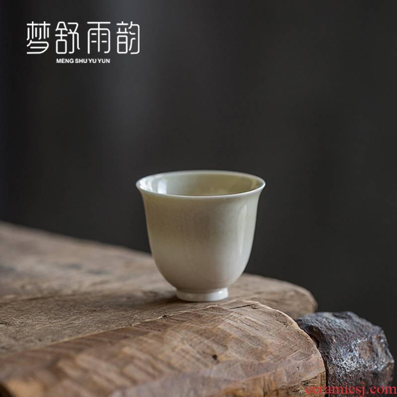 Dream ShuYu rhyme kung fu tea set ceramic cups domestic tea cups a single master vintage Japanese sample tea cup