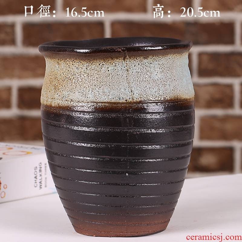 The Purple sand flowerpot more meat ceramic package mail special offer a clearance coarse pottery breathable large - diameter large potted creative small potted plant