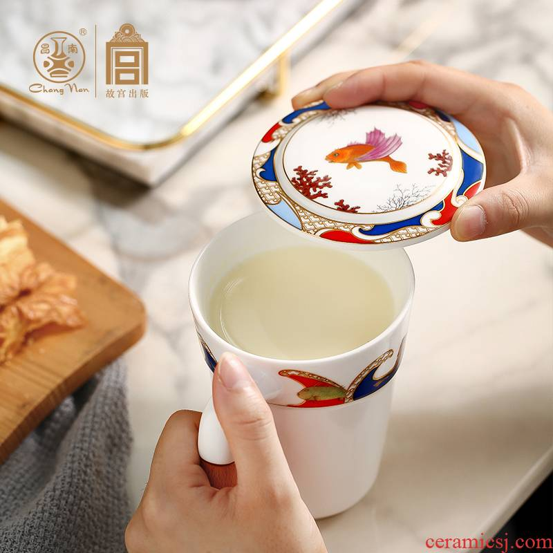 Chang south palace wen gen sea place wrong figure ceramic picking cups a mark cup for cup with cover with a gift