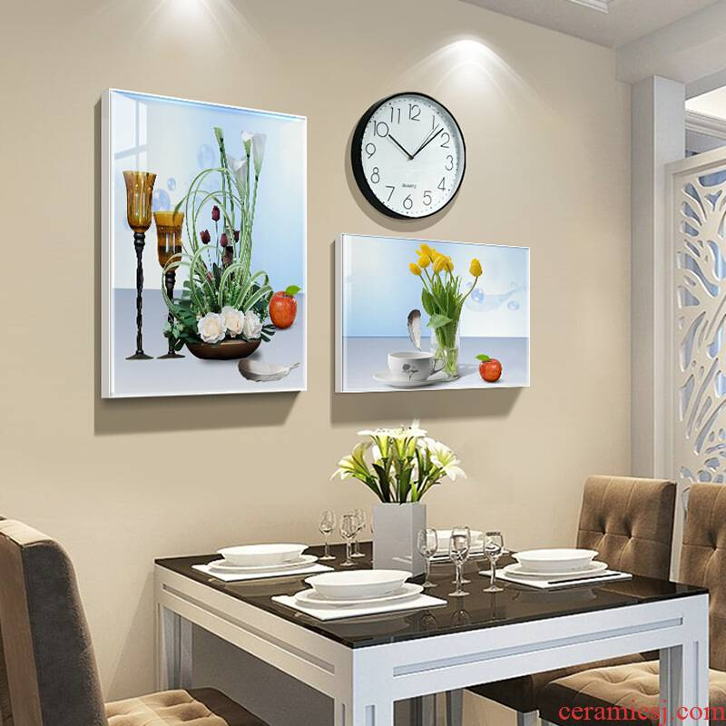Porcelain heng tong sitting room adornment Nordic sofa background wall paintings I and contracted style bedroom restaurant wall hangs a picture