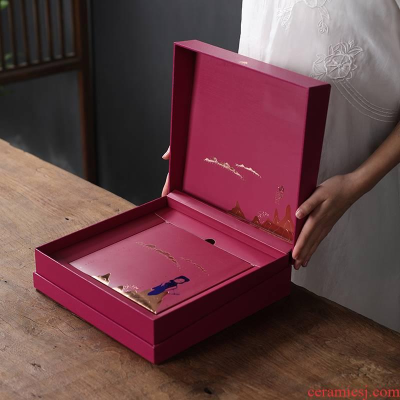 The General high - grade pu 'er tea cake outer packing box empty box 357 g g tea cake tea tea box empty box
