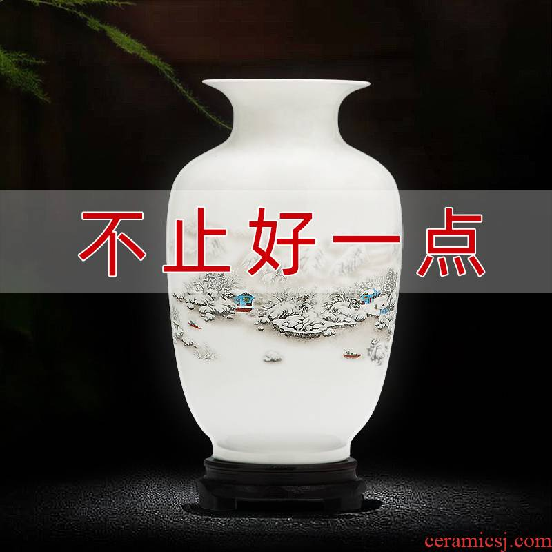 Jingdezhen ceramics floret bottle furnishing articles Chinese flower arranging wine sitting room TV ark, home decoration arts and crafts