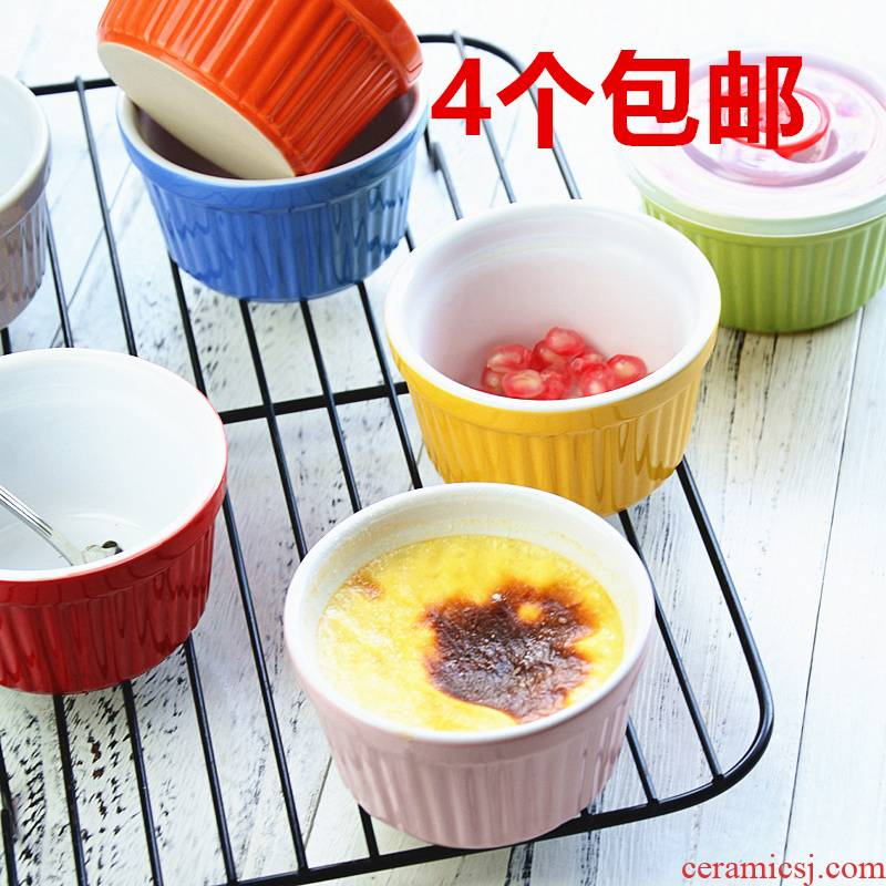 Bo guan shu she roasted bowl creative milk cake baking mold pudding cup small bowl west tableware oven dessert bowl.