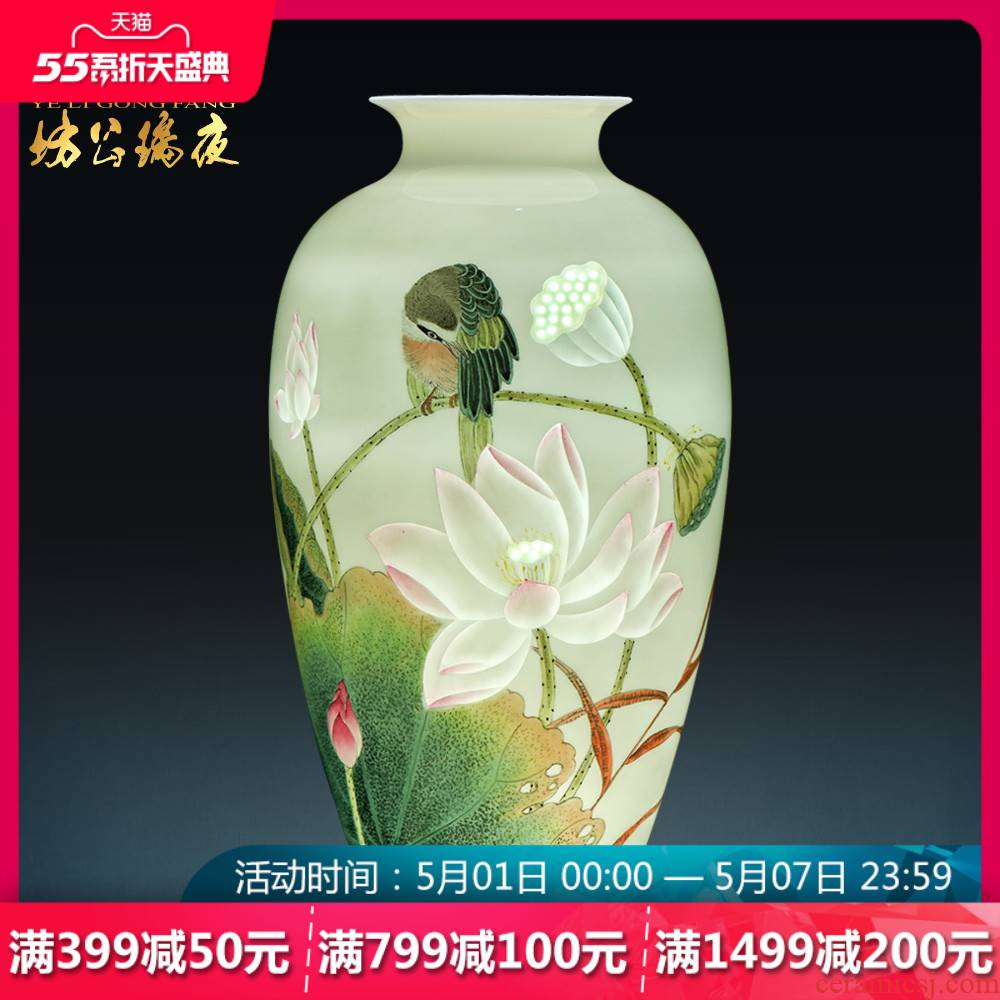 Jingdezhen ceramics hand - made vases placed large fragrance overflowing act the role ofing is tasted much of new Chinese style of the sitting room porch decoration