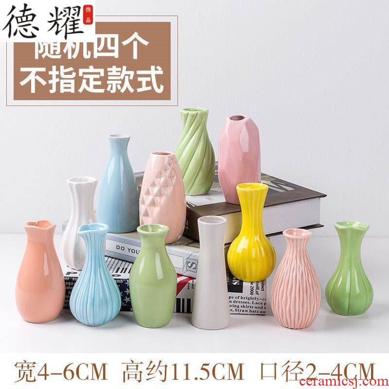 Pottery and porcelain vases, flower arranging device type porcelain furnishing articles hall home get I adornment mini simple delicate hang a wall