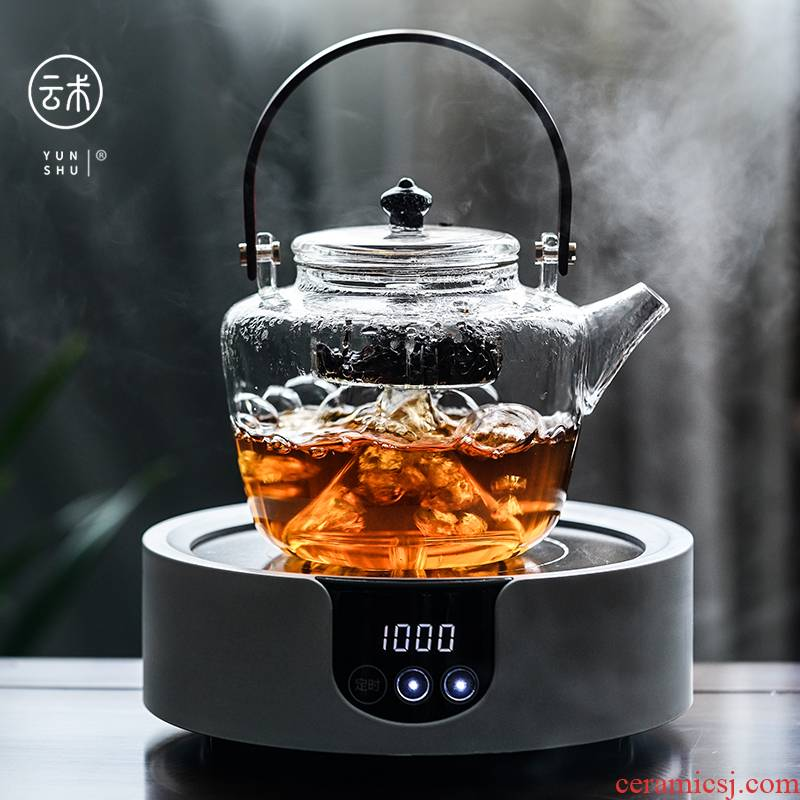 Cloud (Japanese real wood girder household heat resistant glass teapot cooked the teapot tea steamer TaoLu filter the teapot