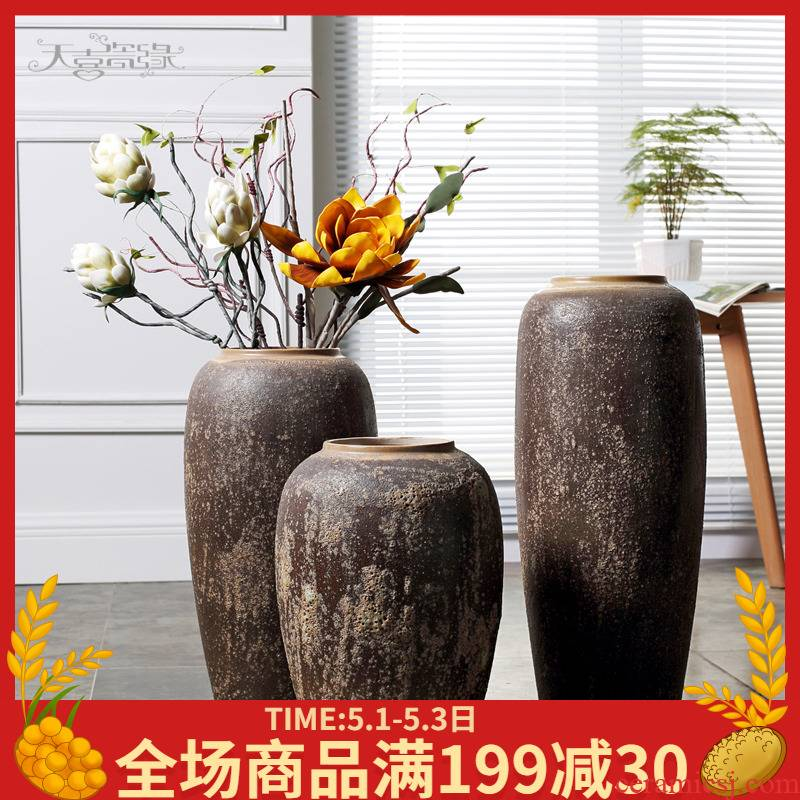 Jingdezhen Europe type restoring ancient ways TV cabinet floor vase in the sitting room porch decoration to the hotel club flower arranging furnishing articles POTS