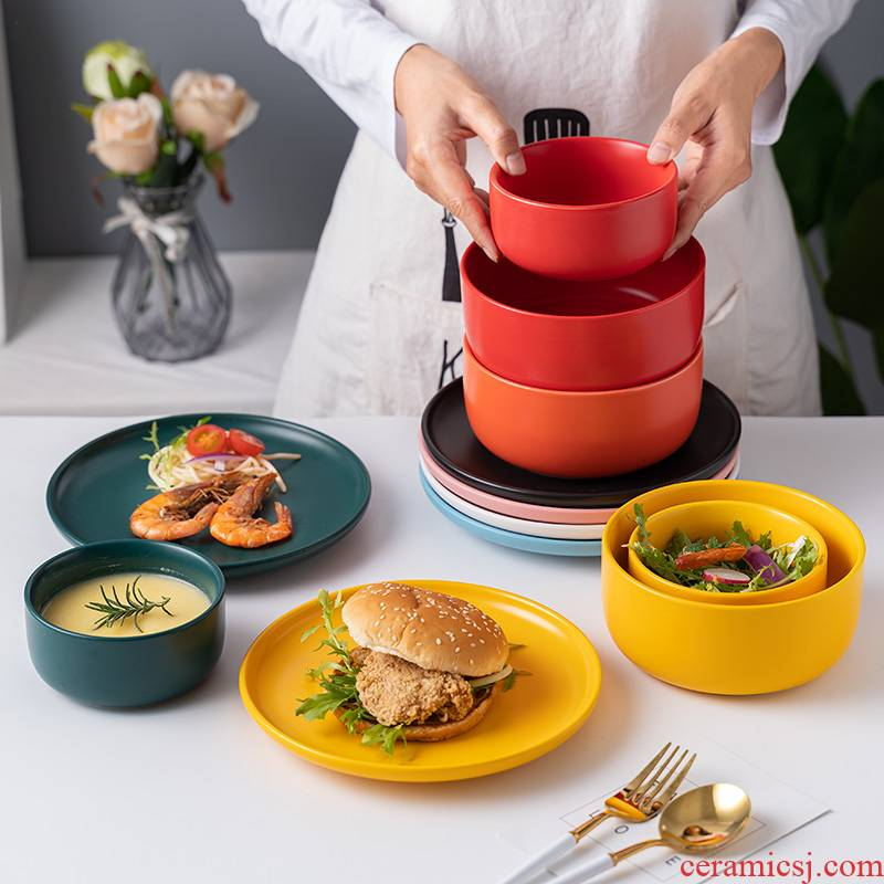 Bo view creative Nordic feed a man suit light key-2 luxury home combination to use chopsticks 4 dishes move tableware dishes