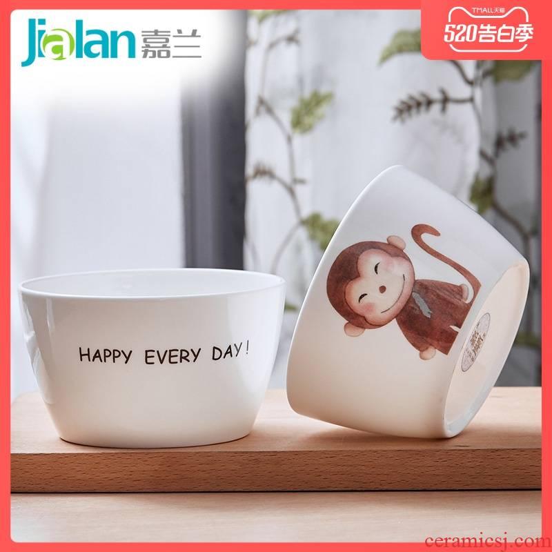 Garland ipads bowls creative ceramic hand - drawn cartoon salad bowl Korean rice bowl noodles bowl bowl of express