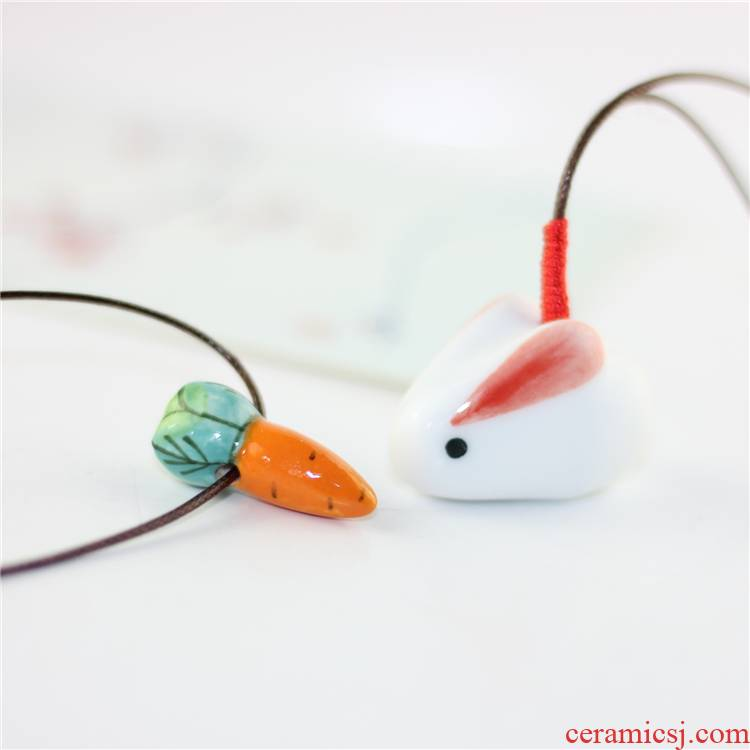 Jin hao baby carrots necklace checking ceramic necklace pendant clavicle mini Jin hao manufacturers accessories