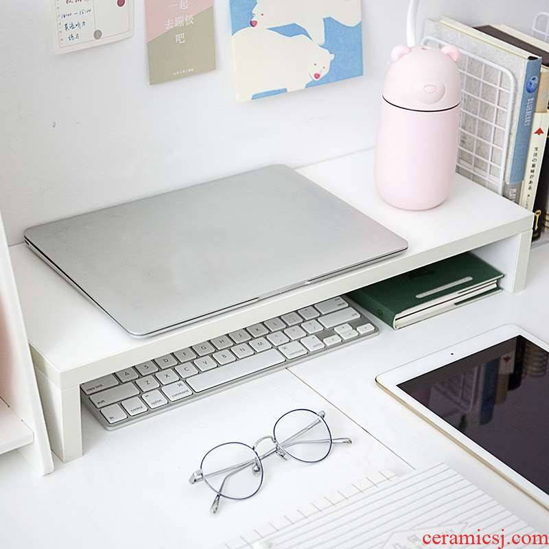 The Shelf on the desk can put a laptop display the desktop office dormitory receive who base