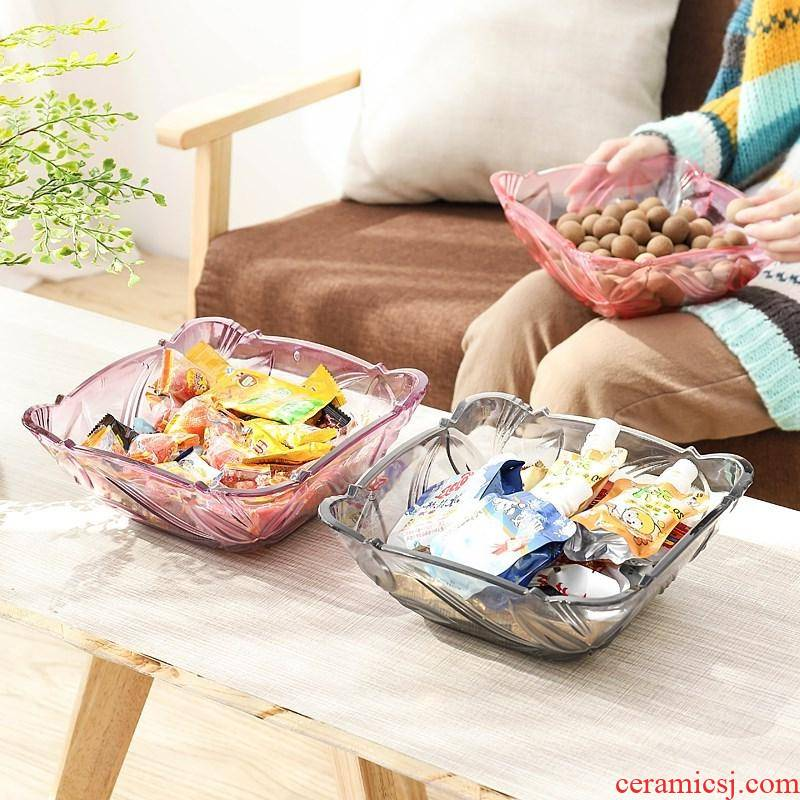 Fruit bowl home sitting room tea table plate plate red northern wind mini Fruit Fruit basket European deep j