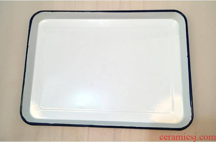 With white enamel tray square plate hotel laboratory tray was rectangular plate With white plate