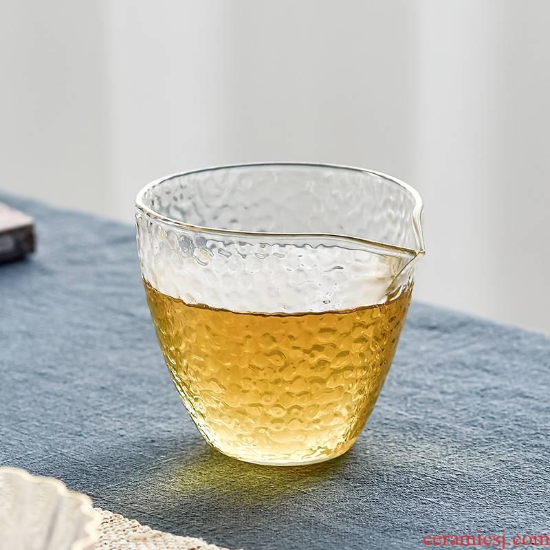 The high time household kung fu tea set fair heat - resistant glass tea cup points pours tea tea tea accessories is large