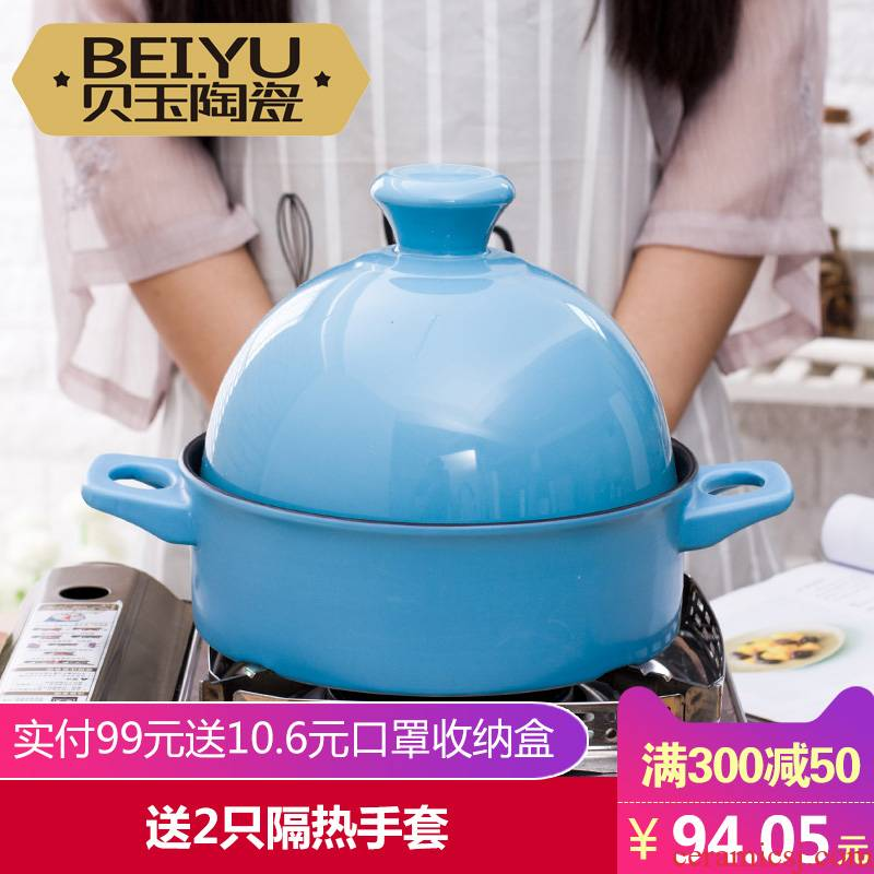 BeiYu tower JiGuo ceramic sand pot soup rice pot stew flame to hold to high temperature freeing up household casseroles stewed cooking pot