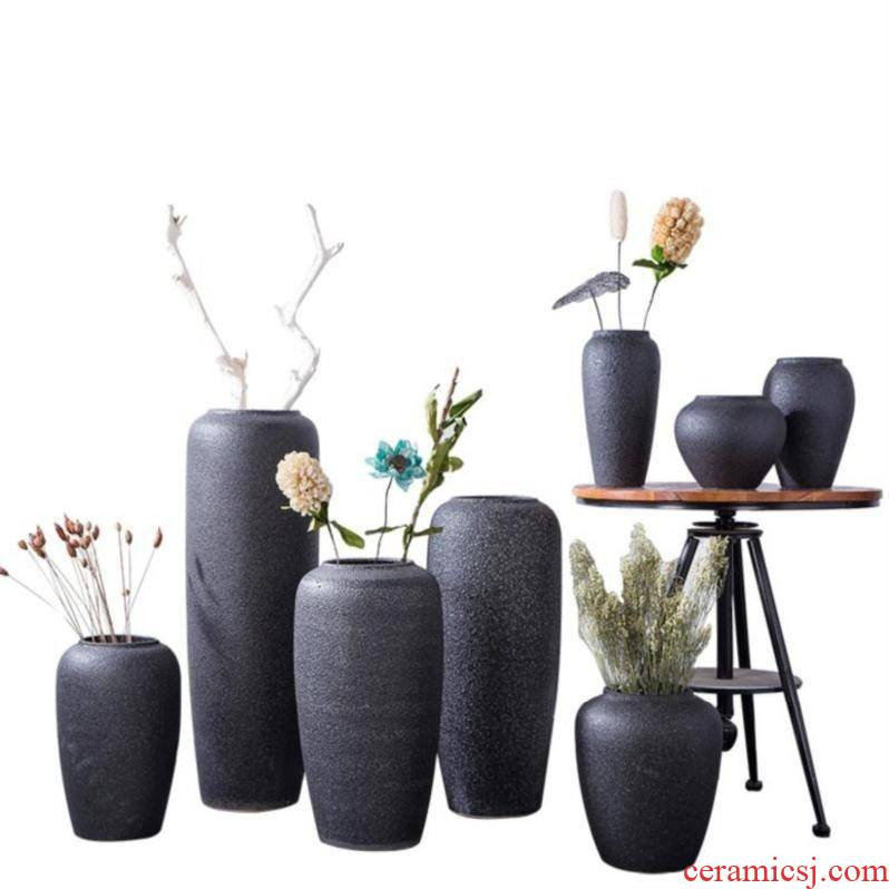 Diamond household ceramic vases, ceramic bedroom atmosphere extended floral modelling bronze pot enamel blue jug