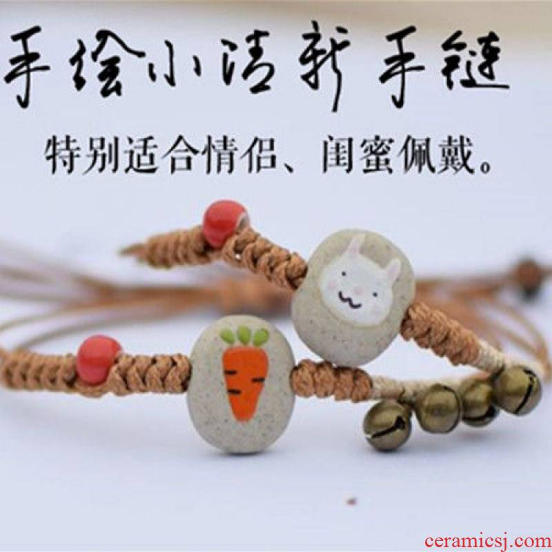 Lurssen present l han edition bracelet with a female student picking girlfriends woven simple lovely red rope tao