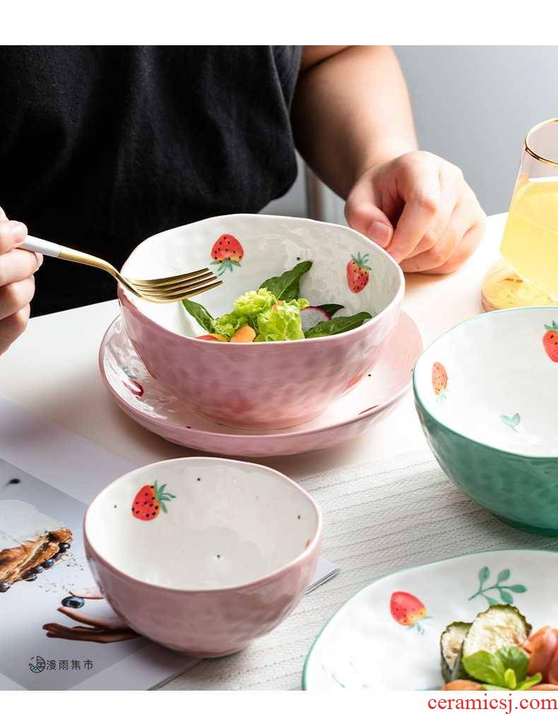 Japanese dishes household tableware bowls and lovely young girl heart creative move ceramic bowl a single bowl dishes suit to eat