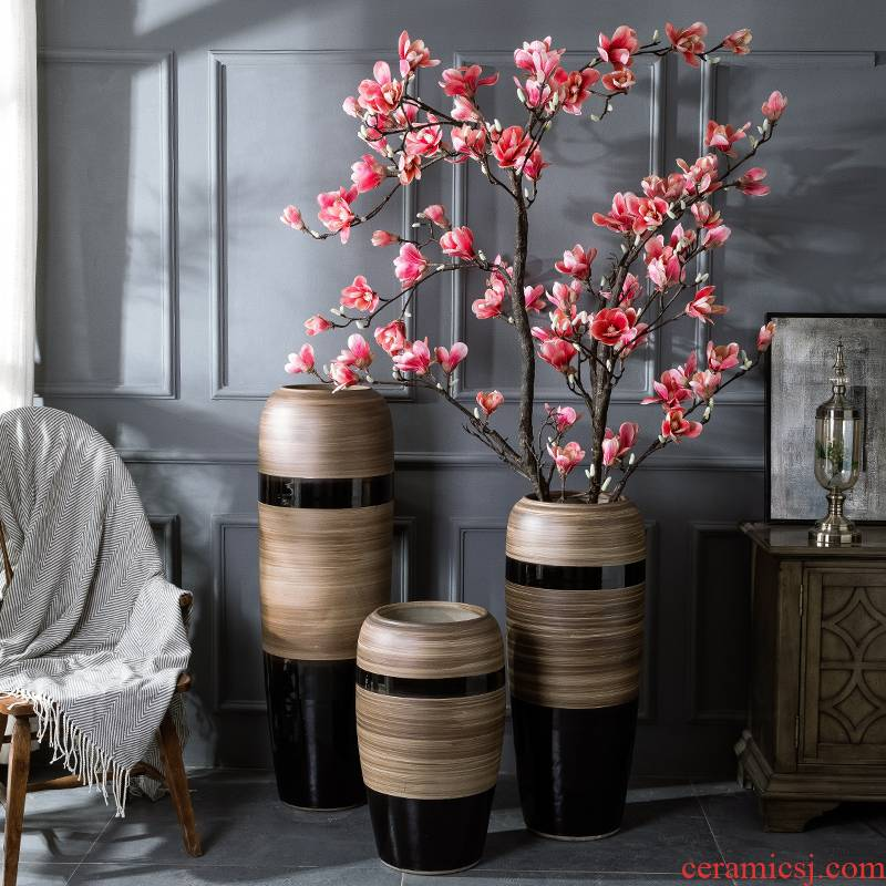 Large ceramic floor vase furnishing articles simulation flower flower arranging I and contracted sitting room hotel adornment example room